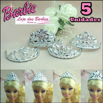 Kit Lote Com 5 Coroa Para Boneca Barbie * Princesa Disney