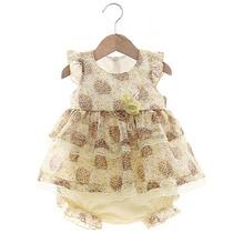 Vestido E Calcinha Cecilia Amarelo - Beth Bebê