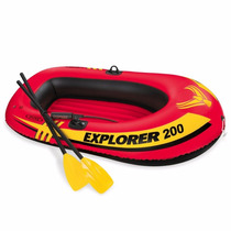Lancha Inflable Con Remos Intex Explorer 200