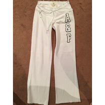 Pants Abercrombie & Fitch Talla S Mujer Blancos