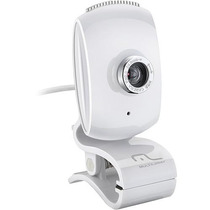 Webcam Multilaser Plug And Play White Piano Branca - Wc047