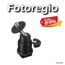 Soporte Cabeza De Bola Para Conectar Videocamaras De 1/4