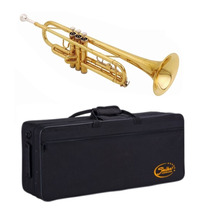 Trompete Shelter Laqueado Dourado + Case Sft6418l Sib Bb