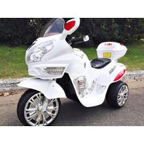 Moto Triciclo A Bateria Chicos 6v Con Luces Y Sonido Mp3!!
