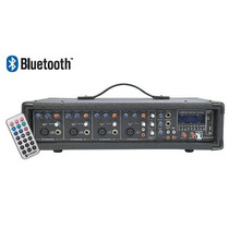 Mezcladora Amplificada 4ch 800w Usb Sd Bluetooth Display