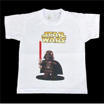 Camisa Infantil - Star Wars, Plants Vs Zombies, Angry Birds