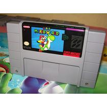 Super Mario World Original Super Nintendo Snes Bateria Nova!