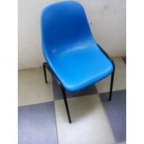 Cadeira Marfinite Concha Plástica Empilhável Resistente Azul