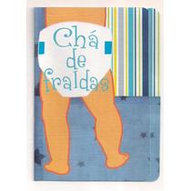 50 Convites De Chá De Fraldas (bebê) Menino