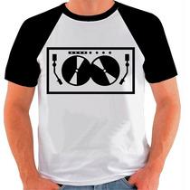 Camiseta Raglan Dj Disc Jockey Balada Pick Up Sw-315