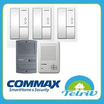 Kit Portero Electrico Commax Dp-la101 3 Telefonos Y Frente