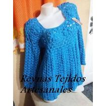 Sweaters Y Sacos Tejido Al Crochet - Tejidos Artesanales.