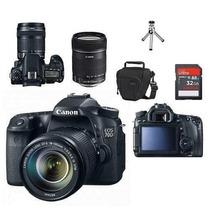 Câmera Canon Eos 70d Com Lente 18-135+bolsa+tripé+32gb C/10