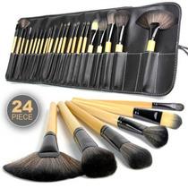 Kit De 24 Pinceis Maquiagem + Estojo+ Pronta Entrega