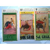 Boletos De Toros Plaza México 3 Antiguos De Colección 2