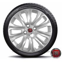 Jogo Calota Aro 15 Fiat Novo Palio Punto 14 2015 Linea Stilo