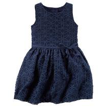 Vestido Carters, Rare Editions, Bonnie Jeans Talla 2 A 8