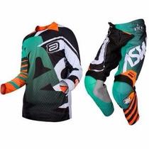 Conjunto Calça + Camisa Asw Podium Reborn Trilha Motocross