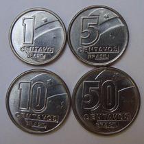 Collecione - Rara 5 Centavos 1990 - Série Completa De 1990