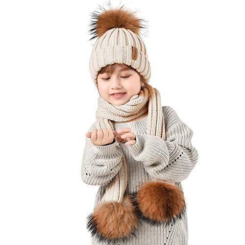 ce607628451 Conjunto De Gorro Y Bufanda Para Niños Winter Knit Beanie Po -   42.895 en Mercado  Libre