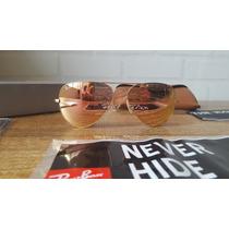 Óculos Rayban Aviador Espelhado Rosé Rb3025 Em 12x