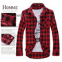 Camisa Hombre A Cuadros / Rojo Con Negro<br><strong class='ch-price reputation-tooltip-price'>$ 15.000</strong>