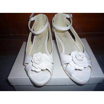 Sandalias Para Comunión De Nena Color Blanco