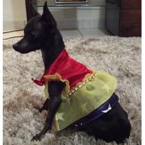 Roupa De Cachorro Mulher Maravilha Totopet. Porte Pequeno.