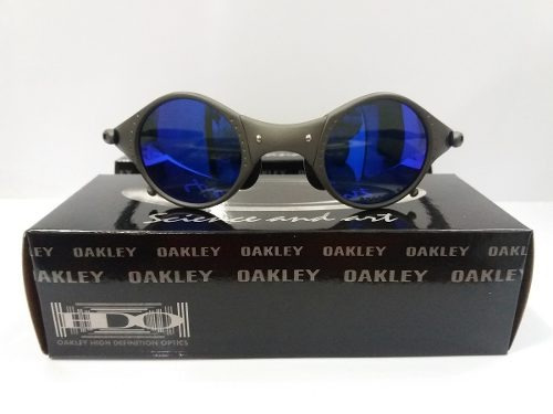 1ff4f3cb258b9 Oculos Oakley 24k Medusa Azul Frete Grátis - R  290