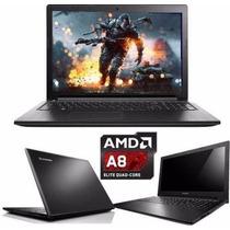 Notebook / Laptop Pc Lenovo 15.6 Amd-a8 4gb 500gb Cuotasss