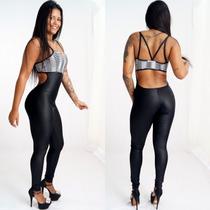Roupa De Academia Macacão Malhar Ginástica Fitness Sexy Bojo