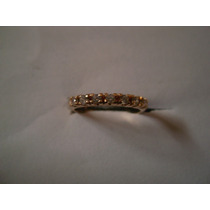 Anillo Dama 18 Kilates Medio Cintillo