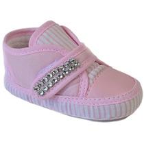 Tenis Infantil Bebe Nene Velcro Menino E Menina Tecido Lindo