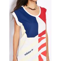 Camiseta Regata Adidas Originals Tipo Bata Linda Estampa Top