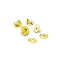 Botão Imantado Cor (ouro) 14mm Fechos C/50 Fechos P/bolsas