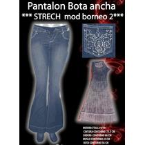Pantalon Bota Ancha Blue Jeans Talla 28 Nuevo