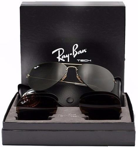 295d7922d Óculos Ray Ban Tech Flip Out Rb3460 Troca Lentes 3 Em 1 - R$ 280,00 ...