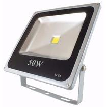 Refletor Holofote Led Branco Quente 50w Bivolt Prova D