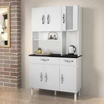 Armário De Cozinha 6 Portas E 2 Gavetas Branco - Chf Móveis