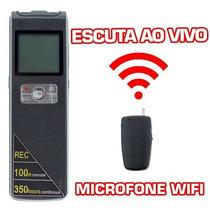 Escuta Remota Ao Vivo 100m Mini Micro Microfone Ponto Espiao