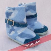 Zapato Para Bebé Gorditoo - Botita Con Cinto Celeste