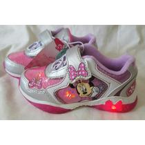 Zapatillas Minnie Disney Originales Con Luces Import Nuevas!