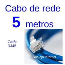 Cabo Rede 5 Metros Cat5e Rj45 Lan Patchcord Pronto Promoção