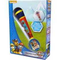 Paw Patrol Microfono Con Luces Y Sonidos Nick Jr Original