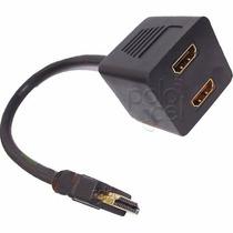 Cable Splitter Hdmi Divisor De Señal Adaptador 2 Monitores