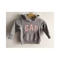 Moleton Gap Baby Com Ziper E Bolso: 6-12 Meses