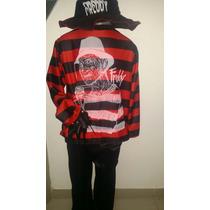 Disfraz De Freddy Krueger Con Mano