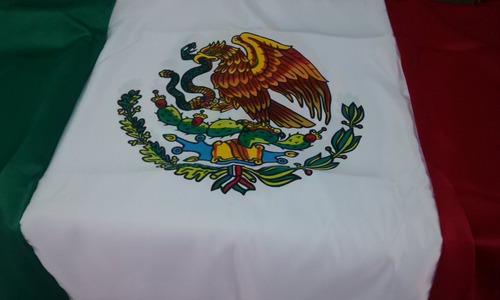 Bandera Mexico Bordada Color Doble Vista 60x1 05