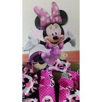 Minnie Mouse - Candy Bar Cumple Completo Para 20 Niños