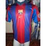 Camiseta Fútbol Barcelona España Nike 1999 2000 Rivaldo 10 M